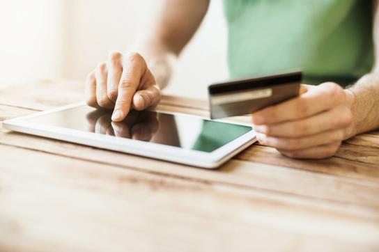 Patient Paying Bill online via Portal Image
