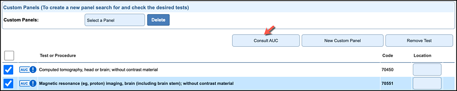 How to consult the AUC if one is required in NextGen Office