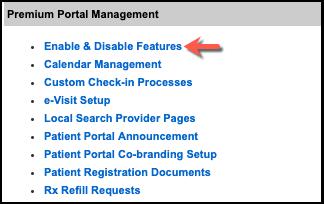 Enable NextGen Office EHR Patient Portal features