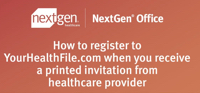 How to register at the NextGen Office cloud based EHR patient portal