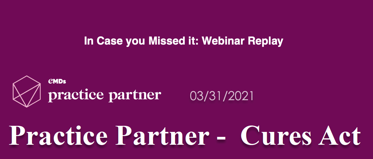 Practice Partner, Medisoft Clinical, Lytec MD information blocking webinar